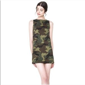 "Alice + Olivia ""Clyde"" camo Print shift dress 2"